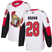 Wholesale Cheap Adidas Senators #28 Connor Brown White Road Authentic Stitched Youth NHL Jersey