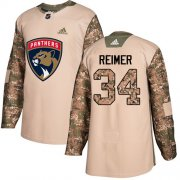 Wholesale Cheap Adidas Panthers #34 James Reimer Camo Authentic 2017 Veterans Day Stitched Youth NHL Jersey