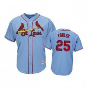 Wholesale Cheap Cardinals #25 Dexter Fowler Horizon Blue Alternate 2019 Cool Base Stitched MLB Jersey