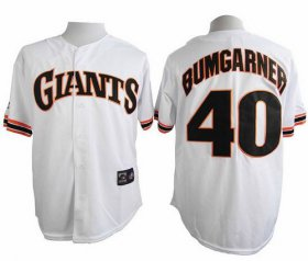 Wholesale Cheap Giants #40 Madison Bumgarner White 1989 Turn Back The Clock Stitched MLB Jersey