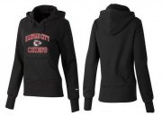 Wholesale Cheap Women's Kansas City Chiefs Heart & Soul Pullover Hoodie Black