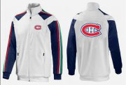 Wholesale Cheap NHL Montreal Canadiens Zip Jackets White-1