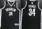 Wholesale Cheap Brooklyn Nets #34 Paul Pierce Revolution 30 Swingman Black Jersey