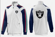 Wholesale Cheap NFL Las Vegas Raiders Team Logo Jacket White_4