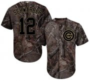 Wholesale Cheap Cubs #12 Kyle Schwarber Camo Realtree Collection Cool Base Stitched MLB Jersey