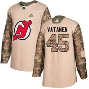 Wholesale Cheap Adidas Devils #45 Sami Vatanen Camo Authentic 2017 Veterans Day Stitched NHL Jersey