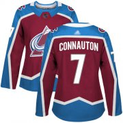 Wholesale Cheap Adidas Avalanche #7 Kevin Connauton Burgundy Home Authentic Women's Stitched NHL Jersey