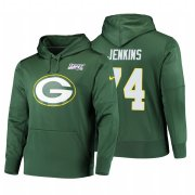 Wholesale Cheap Green Bay Packers #74 Elgton Jenkins Nike NFL 100 Primary Logo Circuit Name & Number Pullover Hoodie Green