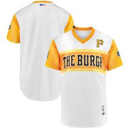 Wholesale Cheap Pittsburgh Pirates Majestic 2019 MLB Little League Classic Authentic Team Jersey White