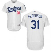 Wholesale Cheap Dodgers #31 Joc Pederson White Flexbase Authentic Collection Stitched MLB Jersey