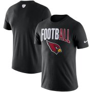 Wholesale Cheap Arizona Cardinals Nike Sideline All Football Performance T-Shirt Black
