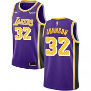 Wholesale Cheap Lakers #32 Magic Johnson Purple Basketball Swingman Statement Edition Jersey