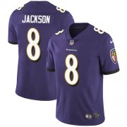 Wholesale Cheap Nike Ravens #8 Lamar Jackson Purple Team Color Men's Stitched NFL Vapor Untouchable Limited Jersey