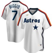 Wholesale Cheap Houston Astros #7 Craig Biggio Nike Home Cooperstown Collection Logo Player MLB Jersey White