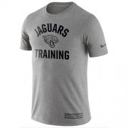 Wholesale Cheap Men's Jacksonville Jaguars Nike Heathered Gray Training Performance T-Shirt