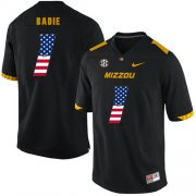 Wholesale Cheap Missouri Tigers 1 Tyler Badie Black USA Flag Nike College Football Jersey