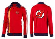 Wholesale Cheap NHL New Jersey Devils Zip Jackets Orange-2