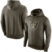 Wholesale Cheap Men's Oakland Raiders Nike Olive Salute To Service KO Performance Hoodie