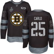 Wholesale Cheap Adidas Bruins #25 Brandon Carlo Black 1917-2017 100th Anniversary Stanley Cup Final Bound Stitched NHL Jersey