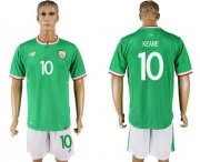 Wholesale Cheap Ireland #10 Keane Green Soccer Country Jersey