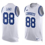 Wholesale Cheap Nike Cowboys #88 CeeDee Lamb White Team Color Men's Stitched NFL Limited Tank Top Jersey
