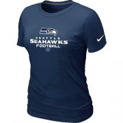 Wholesale Cheap Women's Nike Seattle Seahawks Critical Victory NFL T-Shirt Dark Blue