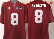 Wholesale Cheap Men's Alabama Crimson Tide #8 Robert Foster Red 2016 BCS patch College Football Nike Limited Jersey