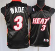 Cheap Miami Heat #3 Dwyane Dwyane Wade Black Kids Jersey