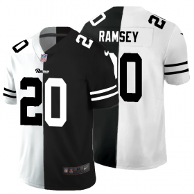 Cheap Los Angeles Rams #20 Jalen Ramsey Men\'s Black V White Peace Split Nike Vapor Untouchable Limited NFL Jersey
