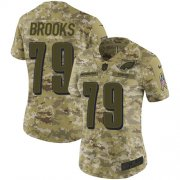 Wholesale Cheap Nike Eagles #79 Brandon Brooks Camo Women's Stitched NFL Limited 2018 Salute to Service Jersey