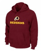 Wholesale Cheap Washington Redskins Authentic Logo Pullover Hoodie Red