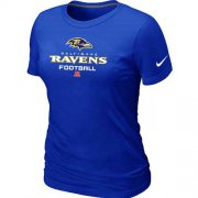Wholesale Cheap Women's Nike Baltimore Ravens Critical Victory NFL T-Shirt Blue