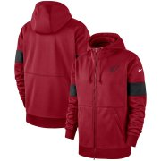 Wholesale Cheap Arizona Cardinals Nike Sideline Performance Full-Zip Hoodie Cardinal