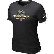 Wholesale Cheap Women's Nike Baltimore Ravens Critical Victory NFL T-Shirt Black