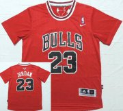 Wholesale Cheap Men's Chicago Bulls #23 Michael Jordan Revolution 30 Swingman Red Short-Sleeved Jersey