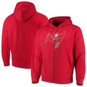 Wholesale Cheap Tampa Bay Buccaneers G-III Sports by Carl Banks Primary Logo Full-Zip Hoodie Red