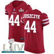 Wholesale Cheap Nike 49ers #44 Kyle Juszczyk Red Super Bowl LIV 2020 Team Color Men's Stitched NFL Vapor Untouchable Elite Jersey