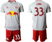 Wholesale Cheap Red Bull #33 Long White Home Soccer Club Jersey