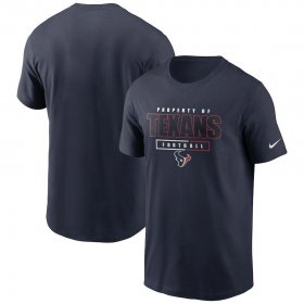 Wholesale Cheap Houston Texans Nike Team Property Of Essential T-Shirt Navy