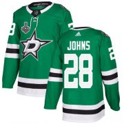 Cheap Adidas Stars #28 Stephen Johns Green Home Authentic Youth 2020 Stanley Cup Final Stitched NHL Jersey