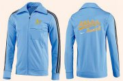 Wholesale Cheap MLB Oakland Athletics Zip Jacket Light Blue_2