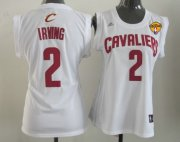 Wholesale Cheap Women's Cleveland Cavaliers #2 Kyrie Irving White 2016 The NBA Finals Patch Jersey