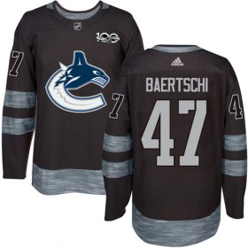 Wholesale Cheap Adidas Canucks #47 Sven Baertschi Black 1917-2017 100th Anniversary Stitched NHL Jersey