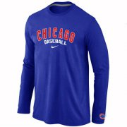 Wholesale Cheap Chicago Cubs Long Sleeve MLB T-Shirt Blue