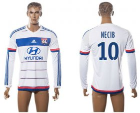 Wholesale Cheap Lyon #10 Necib Home Long Sleeves Soccer Club Jersey