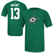 Wholesale Cheap Dallas Stars #13 Ray Whitney Reebok Name and Number Player T-Shirt Green