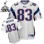 Wholesale Cheap Patriots #83 Wes Welker White Super Bowl XLVI Embroidered NFL Jersey