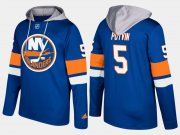 Wholesale Cheap Islanders #5 Denis Potvin Blue Name And Number Hoodie