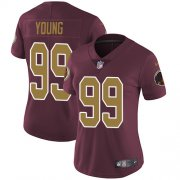 Wholesale Cheap Nike Redskins #99 Chase Young Burgundy Red Alternate Women's Stitched NFL Vapor Untouchable Limited Jersey