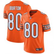 Wholesale Cheap Nike Bears #80 Trey Burton Orange Men's Stitched NFL Limited Rush Jersey